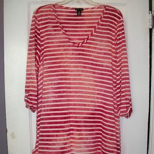 NEW DIRECTIONS PLUS SIZE TUNIC TOP